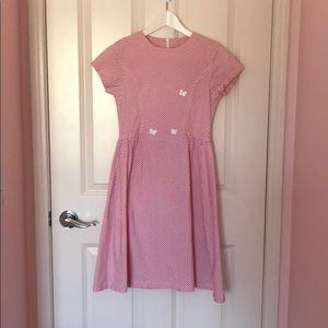 Jacadi Girls Pink Gingham Dress
